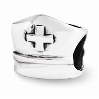 Reflections Nurse Hat Bead, Sterling Silver
