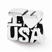 Reflections I HEART USA Bead, Sterling Silver