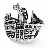 Reflections Pirate Ship Bead, Sterling Silver