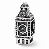 Reflections Big Ben Clock Bead, Sterling Silver