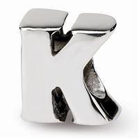 Reflections Letter K Bead, Sterling Silver