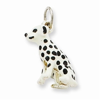 Dalmation Dog Charm, Sterling Silver