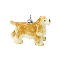 Cocker Spaniel Dog Charm, Sterling Silver