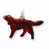 Irish Setter Dog Charm, Sterling Silver