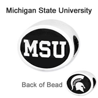 Michigan State University Collegiate Bead Sterling Silver