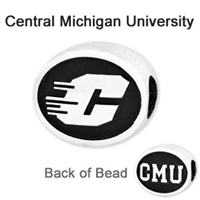 Central Michigan University Collegiate Bead Sterling Silver