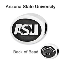 Arizona State University Collegiate Bead Sterling Silver