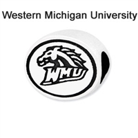 Western Michigan University Collegiate Bead Sterling Silver