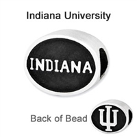 Indiana University Collegiate Bead Sterling Silver