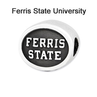 Ferris State University Collegiate Bead Sterling Silver