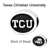 Texas Christian University Collegiate Bead Sterling Silver