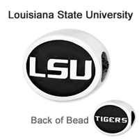 Louisiana State University Collegiate Bead Sterling Silver