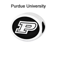 Purdue University Collegiate Bead Sterling Silver