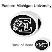 Eastern Michigan University Collegiate Bead Sterling Silver