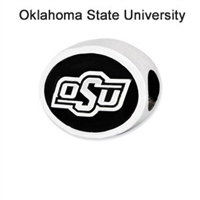 Oklahoma State University Collegiate Bead Sterling Silver