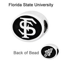 Florida State University Collegiate Bead Sterling Silver