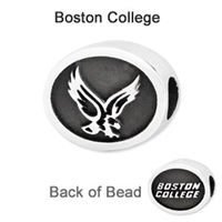 Boston College Collegiate Bead Sterling Silver