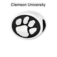 Clemson University Collegiate Bead Sterling Silver