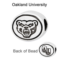 Oakland University Collegiate Bead Sterling Silver