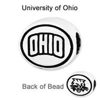 Ohio University Collegiate Bead Sterling Silver