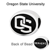 Oregon State University Collegiate Bead Sterling Silver