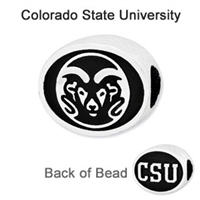 Colorado State University Collegiate Bead Sterling Silver