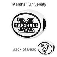 Marshall University Collegiate Bead Sterling Silver