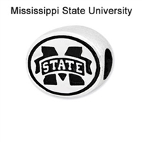 Mississippi State University Collegiate Bead Sterling Silver