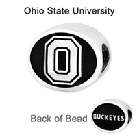 Ohio State University Collegiate Bead Sterling Silver
