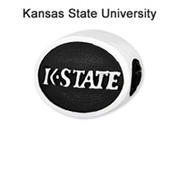 Kansas State University Collegiate Bead Sterling Silver