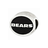 NFL Chicago Bears Bead Sterling Silver