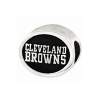 NFL Cleveland Browns Bead Sterling Silver