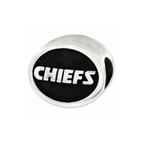 NFL Kansas City Chiefs Bead Sterling Silver
