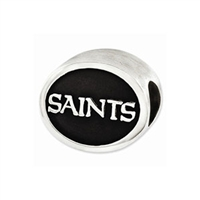 NFL New Orleans Saints Bead Sterling Silver