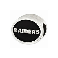 NFL Oakland Raiders Bead Sterling Silver