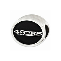 NFL San Francisco 49ers Bead Sterling Silver