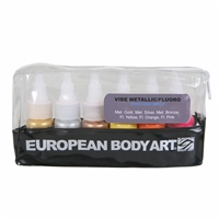 European Body Art Vibe - Fluorescent/Metallic 6 Pack