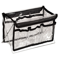 "Makeup Clear Bag with Stand - 11"" Length"
