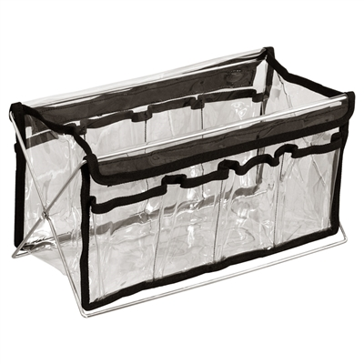 "Makeup Clear Bag with Stand - 14"" Length"
