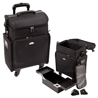 Sunrise Makeup Rolling Case, Black Nylon