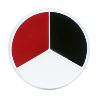 Kryolan Tri-Color Wheel (Red, Black & White)