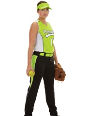 "Womens/Girls ""Rise Ball"" Softball Uniform Set With Pants A1676-1677SOF-SETP"