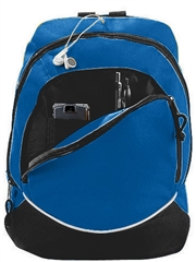 "Tri-Color Backpack A1915BAG  ( 16""H x 12"" W x 7""D )"