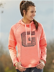 "Womens ""Heathered Advocate"" Performance Fleece Hoodie A5556SWT"