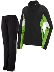 "Womens/Girls ""Bronco"" Full Zip Unlined Warm Up Set A7724-7723WU-SET"