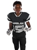 "Adult/Youth ""Curl Route"" Tricot Mesh Football Set with Integrated Pants A9582-9583FB-SET"