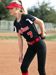 "Womens/Girls ""Lioness"" Two-Button Softball Uniform Set With Pants BGR617600-267600SOF-SETP"