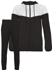 "Womens/Girls ""Domain"" Full Zip Unlined Hooded Warm Up Set BGR792200-272200WU-SET"