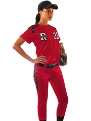 "Womens ""Digital Camo Chopper"" Button Front Softball Uniform Set With Pants CBS23WSOF-SETP"