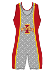 "Womens ""Ames Diamond Plate"" Custom Sublimated Wrestling Singlet"
